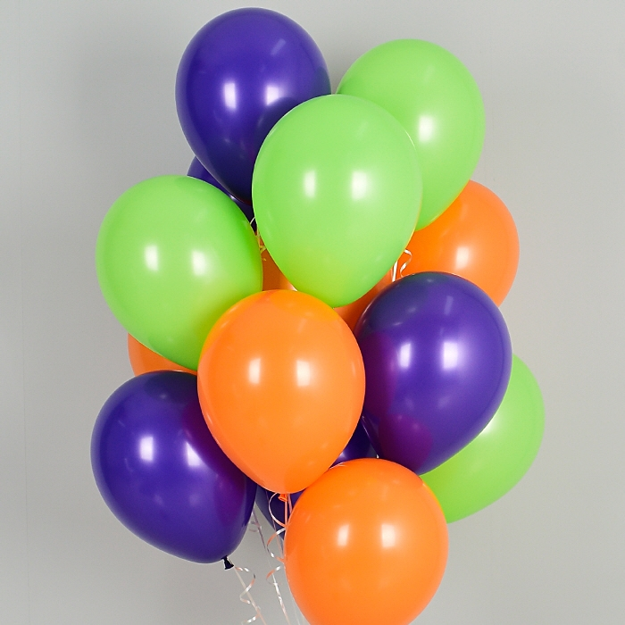 헬륨풍선 할로윈 펌프킨 10개묶음 [차량배달] 온라인한정