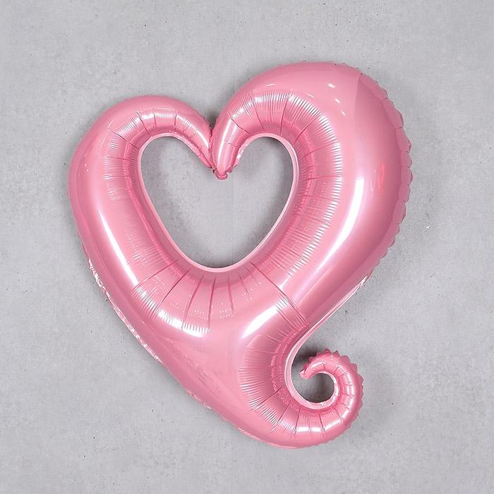 은박풍선 하트프레임 중 핑크