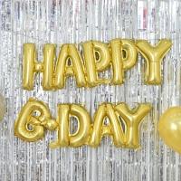 은박풍선세트 HAPPY B DAY 골드