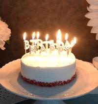 생일캔들 HAPPY BIRTHDAY 메탈릭실버