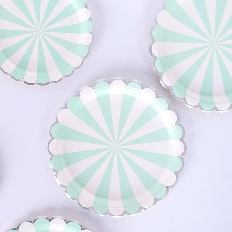 파티 접시 모음 (도트/체크/생일/무늬/플라스틱/종이)
