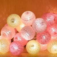 미니 코튼볼라이트 20P 핑크