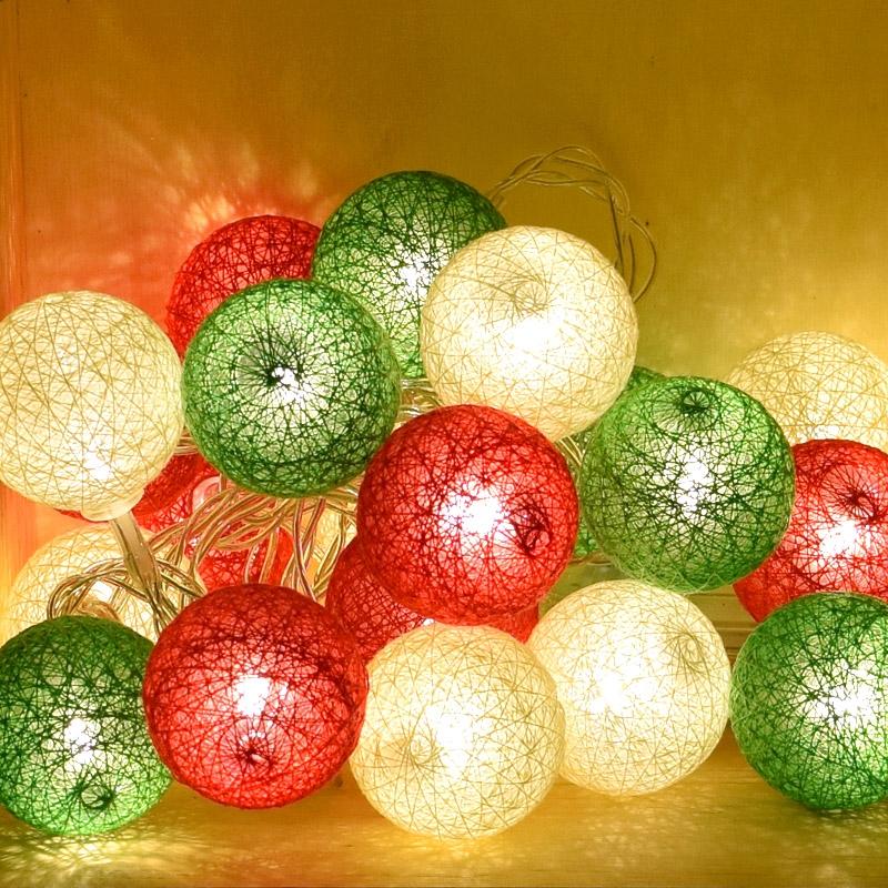 미니 코튼볼라이트 20P 크리스마스
