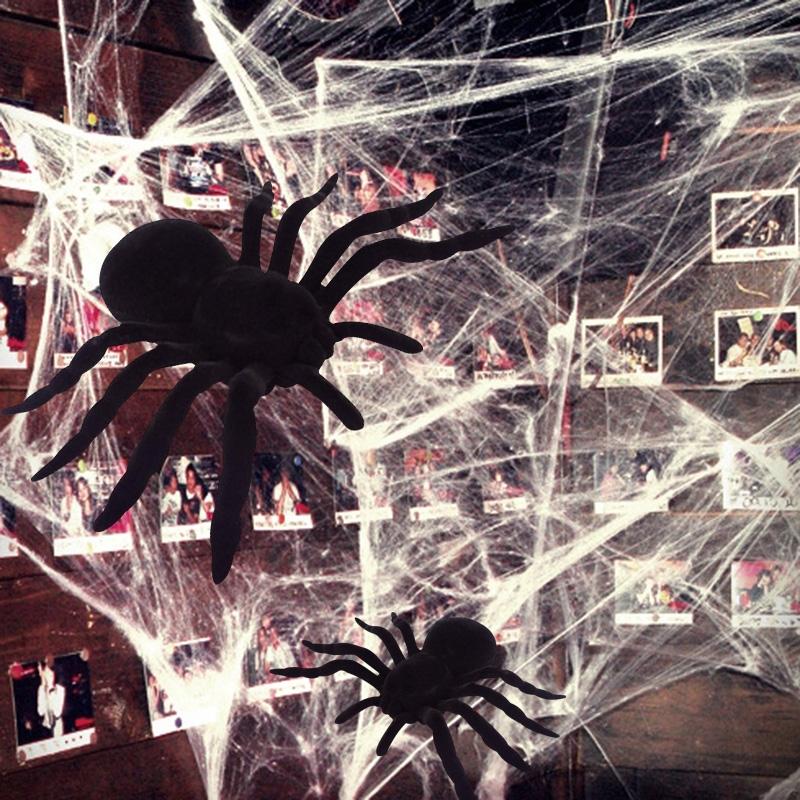 할로윈 거미 아이템 모음 (장식/led/거미줄/모형/풍선/가랜드)
