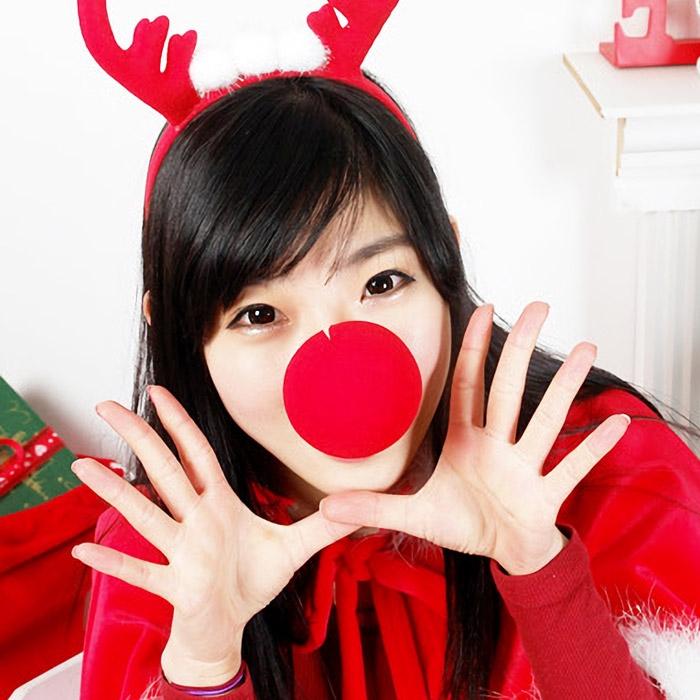 크리스마스 산타소품 모음(산타모자/장갑/양말/자루/수염/루돌프코/자루)