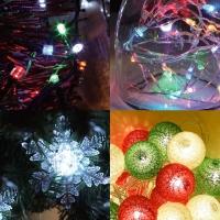 크리스마스 전구 모음(일반/LED/별/코튼볼/설정/커튼/앵두/구슬/고드름)
