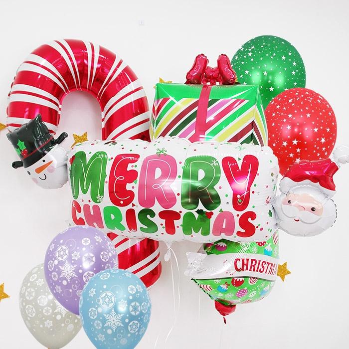 크리스마스 풍선 모음(은박/고무/알파벳/숫자/산타/눈송이/썰매/풍선세트)