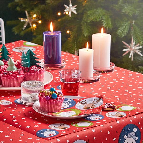 크리스마스 파티테이블모음(생일/송년회/패키지/접시/컵/테이블보/데코픽/냅킨/와인잔)