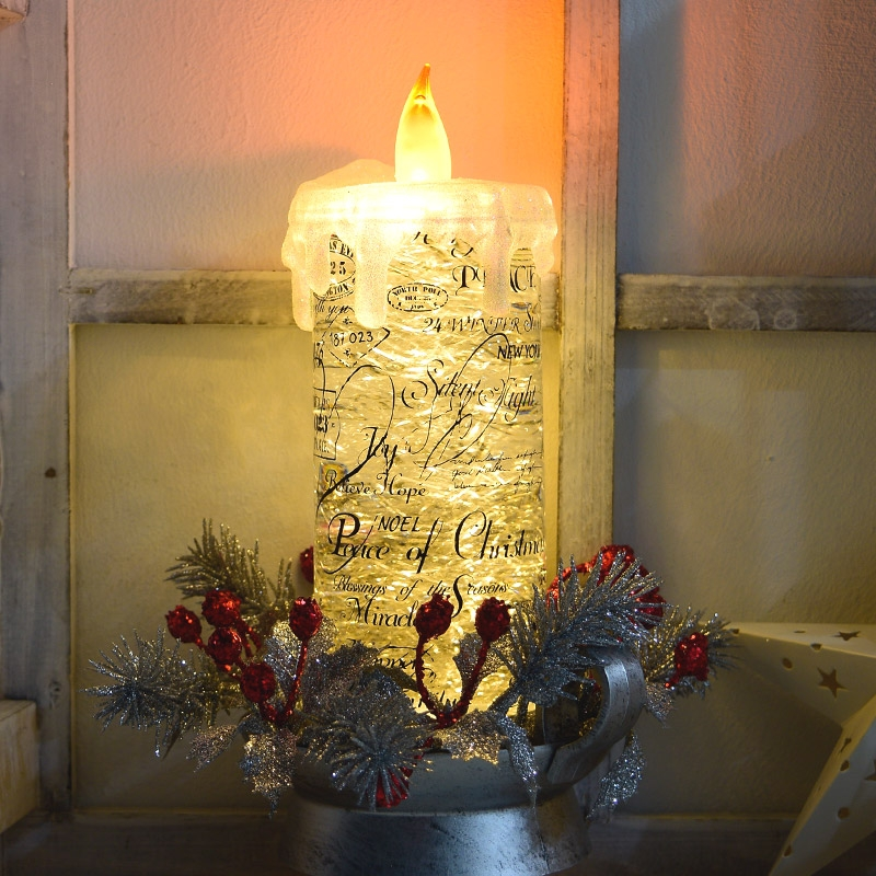 크리스마스 LED/양초 모음(캔들/티라이트/캔들홀더/램프/뱃지/램프/스파클)