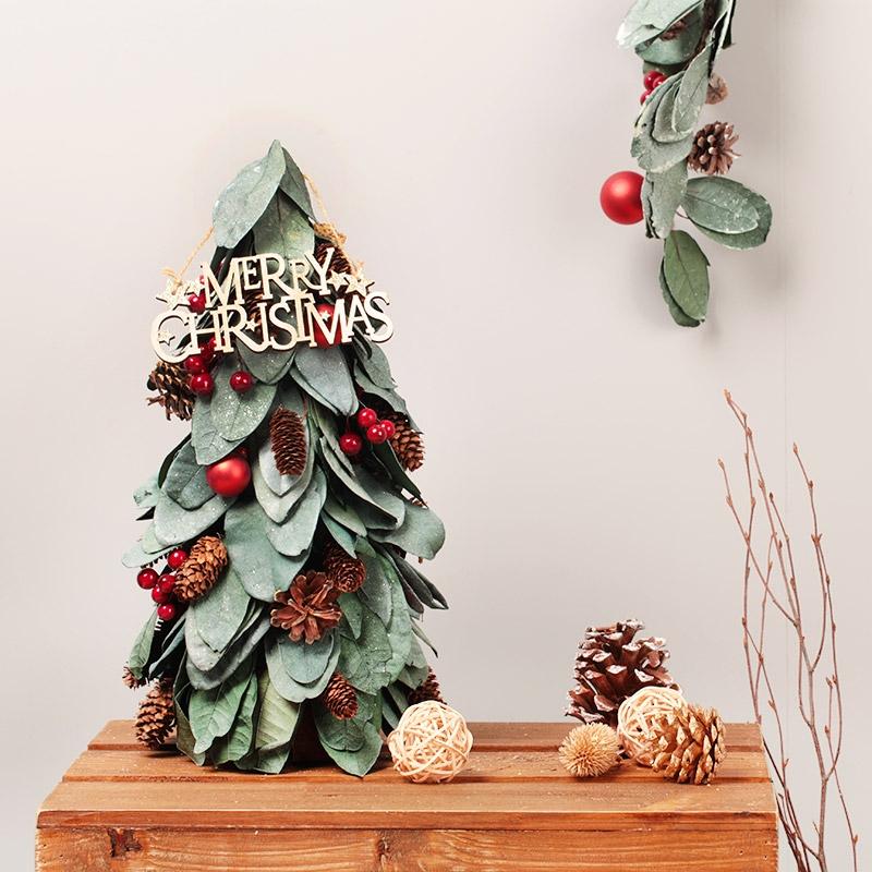 크리스마스 미니트리 모음/목재/철재/무장식/장식/펠트/양모/점등