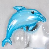 은박풍선 아기돌고래 블루