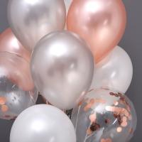 천장풍선세트 컨페티 은박로즈골드 4색혼합 (풍선20개+컬링리본+스폰지닷) 온라인한정