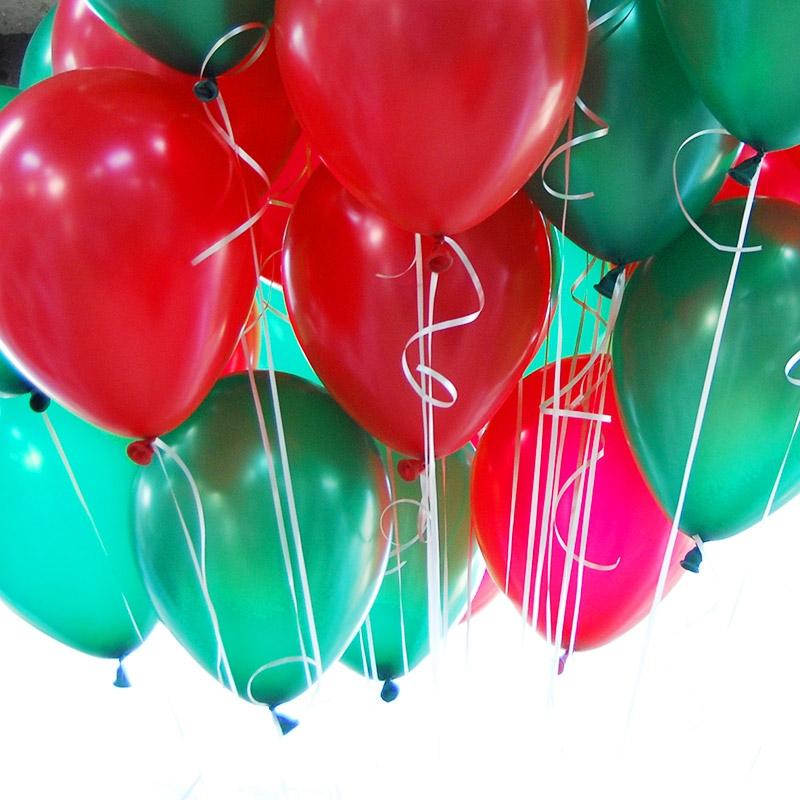 천장풍선세트 크리스마스 2색혼합 (풍선20개+컬링리본+스폰지닷) 온라인한정