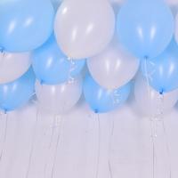천장풍선세트 컨페티 화이트앤 베이비블루 (풍선20개+컬링리본+스폰지닷) 온라인한정