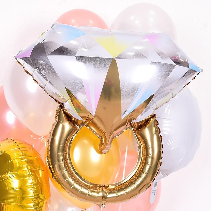 은박풍선 브라이덜 빅다이아몬드반지