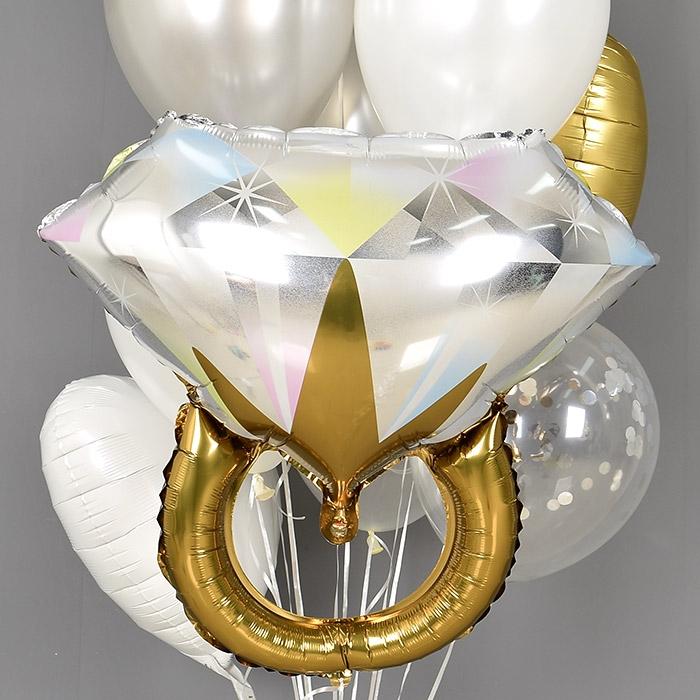 은박헬륨풍선 브라이덜 빅다이아몬드반지