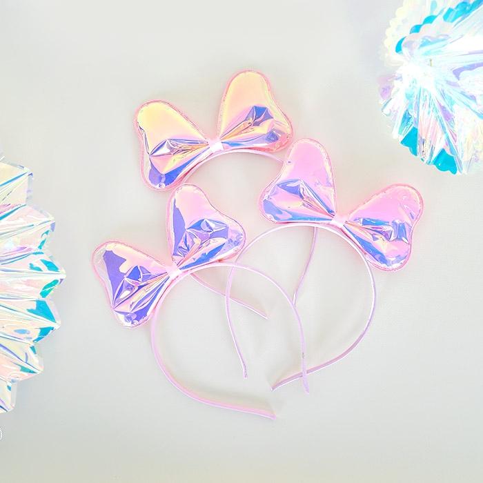 홀로그램 리본머리띠 3개묶음 할인[온라인한정]