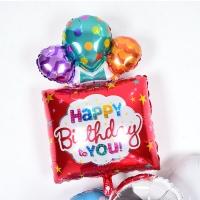 은박풍선 생일선물 레드