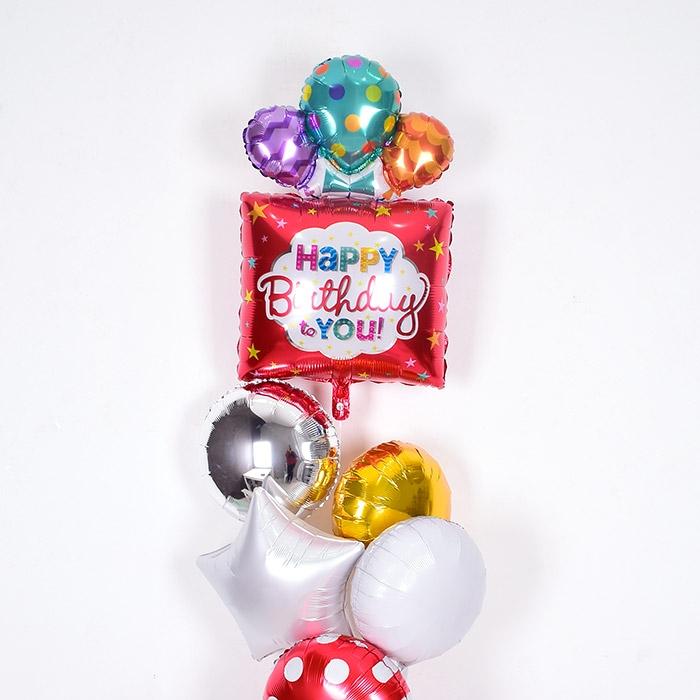 은박헬륨풍선 생일선물 레드 [차량배달] 온라인한정