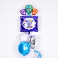 은박헬륨풍선 생일선물 퍼플 [차량배달] 온라인한정