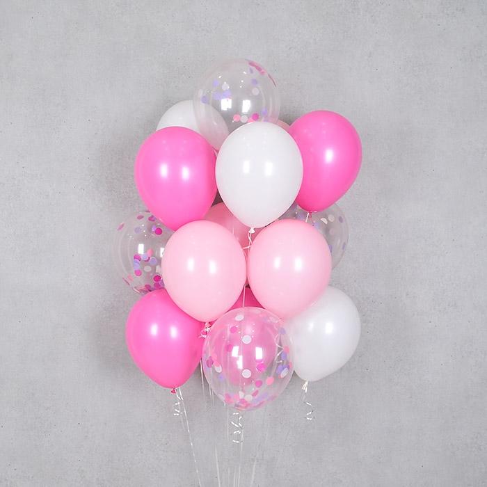 컨페티 헬륨풍선 핑크톤 10개묶음