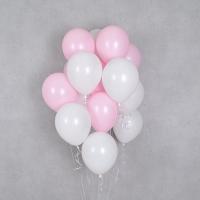 헬륨풍선 베이비핑크앤 화이트 10개묶음 [차량배달] 온라인한정