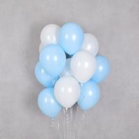 헬륨풍선 베이비블루앤 화이트 10개묶음 [차량배달] 온라인한정