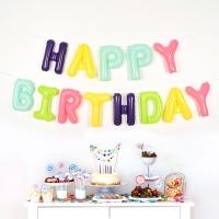 은박풍선세트 HAPPY BIRTHDAY 마카롱