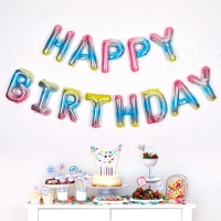 은박풍선세트 HAPPY BIRTHDAY 홀로그램