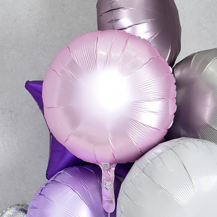 은박풍선 라운드 18인치 파스텔 핑크