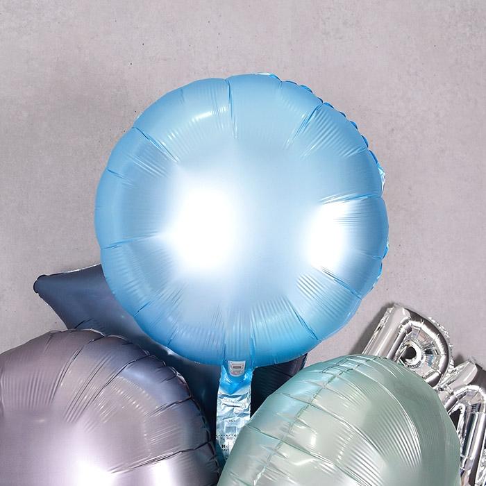 은박풍선 라운드 18인치 파스텔 블루