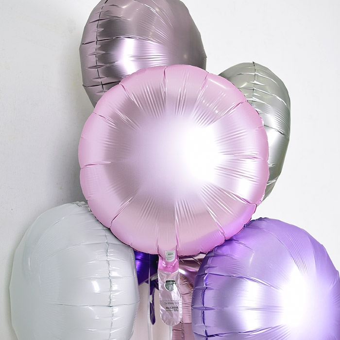 은박헬륨풍선 라운드 18인치 파스텔 핑크 [차량배달] 온라인한정
