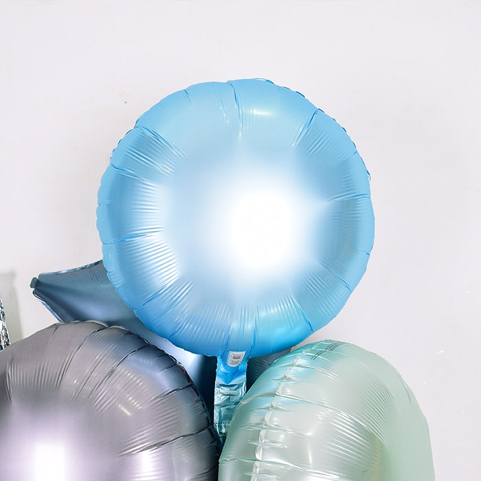 은박헬륨풍선 라운드 18인치 파스텔 블루 [차량배달] 온라인한정