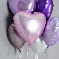 은박풍선 하트 18인치 파스텔 핑크