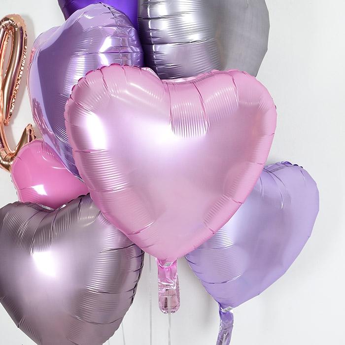 은박헬륨풍선 하트 18인치 파스텔 핑크 [차량배달] 온라인한정