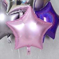 은박풍선 별 19인치 파스텔 핑크
