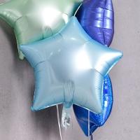 은박풍선 별 19인치 파스텔 블루