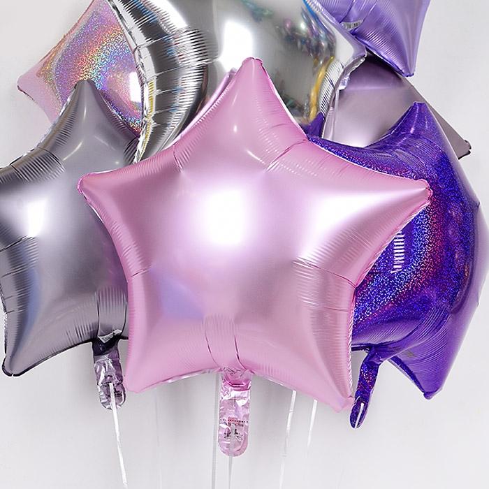 헬륨풍선 별 19인치 파스텔 핑크 [차량배달] 온라인한정