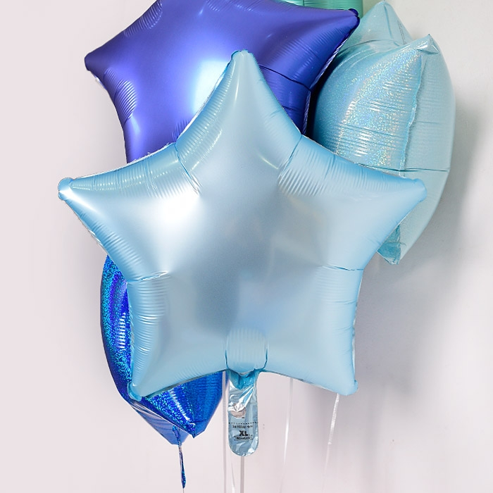 은박헬륨풍선 별 19인치 파스텔 블루 [차량배달] 온라인한정