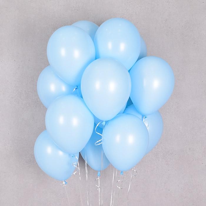 헬륨풍선 파스텔메이트 블루 10개묶음 [차량배달] 온라인한정