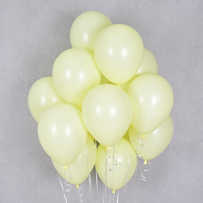헬륨풍선 파스텔메이트 옐로우 10개묶음 [차량배달] 온라인한정