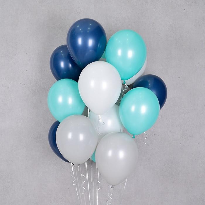 헬륨풍선 민트네이비 4색혼합 10개묶음