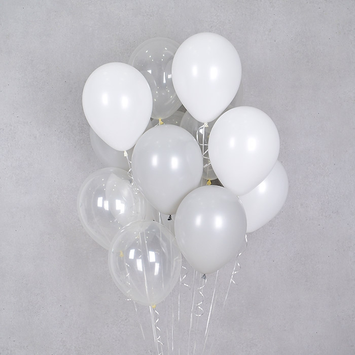 헬륨풍선 버블앤 그레이 10개묶음 [차량배달] 온라인한정