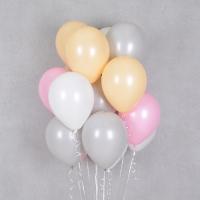 헬륨풍선 피치핑크 4색혼합 10개묶음 [차량배달] 온라인한정