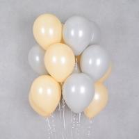 헬륨풍선 피치앤 그레이 10개묶음 [차량배달] 온라인한정