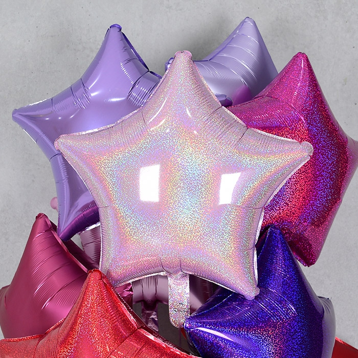 은박풍선 별 19인치 홀로그램 핑크