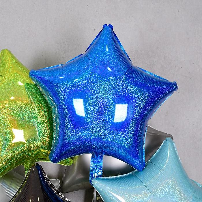 은박풍선 별 19인치 홀로그램 블루