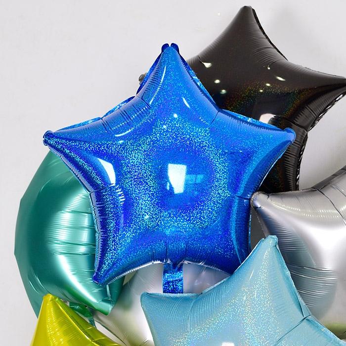 은박헬륨풍선 별 19인치 홀로그램 블루 [차량배달] 온라인한정