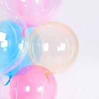 헬륨 칼라버블벌룬 18인치 오렌지 [차량배달] 온라인한정