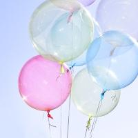 헬륨 칼라버블벌룬 18인치 레드